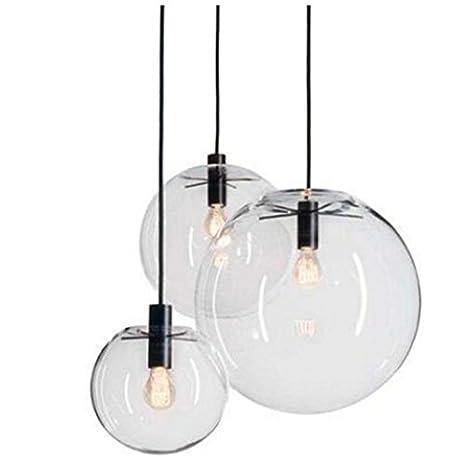 ZLL Lámpara de techo de cristal con diseño de bola en color ...