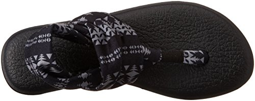 Sanuk - Sandalias de vestir de Material Sintético para mujer Varios Colores charcoal/floral Negro natural
