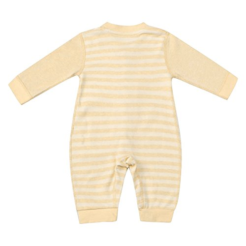 Baby Onesie Pajamas 6-12 Months,Baby Girl Baby Boy Jumpsuit Long Sleeve Stripe Bodysuit with 100% Original Cotton and seamless design
