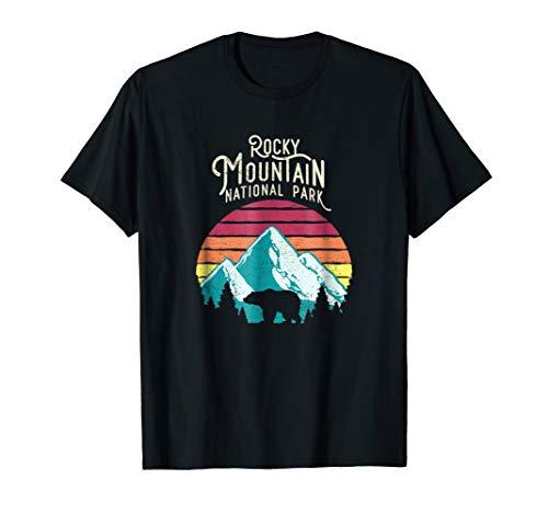 Retro Rocky Mountain National Park Colorado Bear T-Shirt (Best National Parks In Denver)