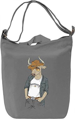 Cowboy bull Borsa Giornaliera Canvas Canvas Day Bag| 100% Premium Cotton Canvas| DTG Printing|