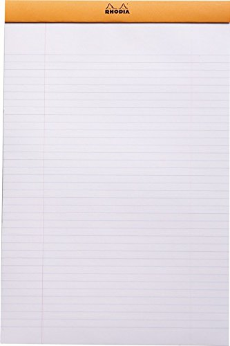 Rhodia Classic Orange Notepad 8.25X12.5 Lined