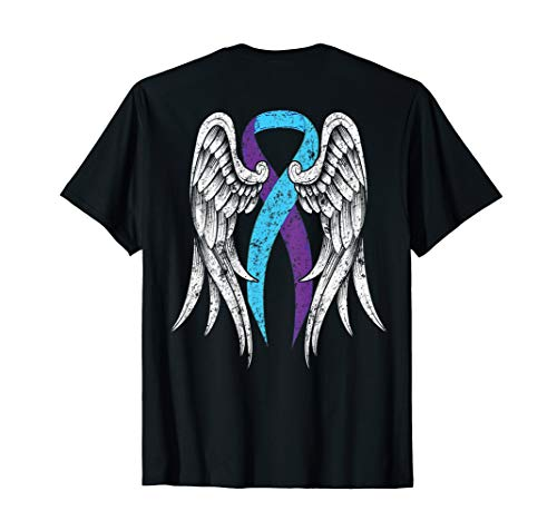 Suicide Awareness Shirt Wings and Ribbon Suicide Prevention]()