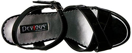 Women's B Black Platform Devious Sandal Can40 Patent vwq0wdg