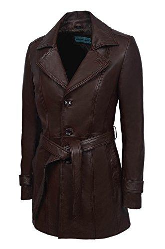 Neues Modell 2218 Damenmode Einbau Braun Stil Mittellänge Knielange Weichem Luxus Premium Lammfell Leder Echtlederjacke -Mantel
