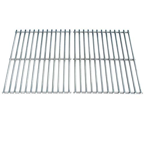 (Direct store Parts DS112 Solid Stainless Steel Cooking grids Replacement Weber BBQ Stainless Steel Cooking Grill Grid Grate 7521 7523 9855 (Aftermarket Parts))