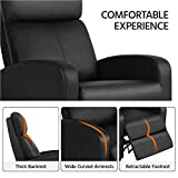 YAHEETECH 2-Seat Reclining Chair Leather Home
