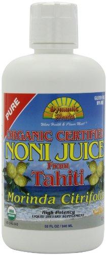 Dynamic Health Noni Juice, Tahitian Morinda Citrifolia, 32 Ounces (Pack of 2), Health Care Stuffs