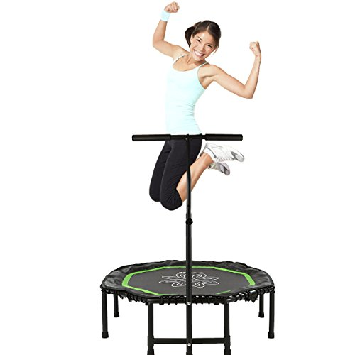 Xspec 44″ Flying Lotus Exercise Rebounder Trampoline Workout Cardio Fitness Training mini indoor, Mini Quiet & Safe Bounce, Rebounding Review