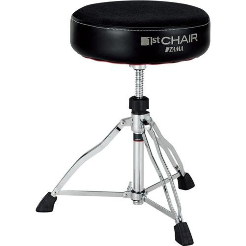 Tama 1st Chair Round Rider Drum Throne Cloth top Black