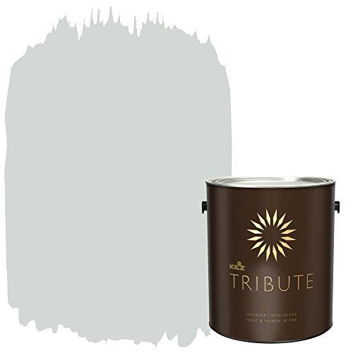 KILZ TRIBUTE Interior Semi-Gloss Paint and Primer in One, 1 Gallon, Cool Fog (TB-61)