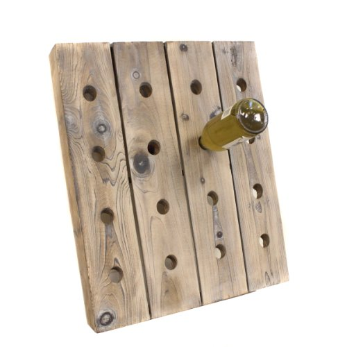 Urban Designs French Style Single Frame Wine Bottle Riddling Rack-16 Bottle Holder (Riddling Wine Rack)