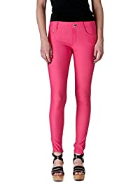 Womens Pull On Cotton Blend Color Jeggings