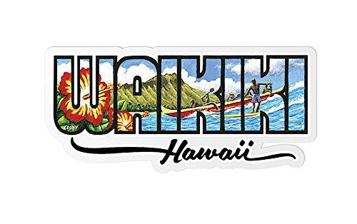 Decal Sticker Waikiki Hawaii By Eddy - Shops Waikiki