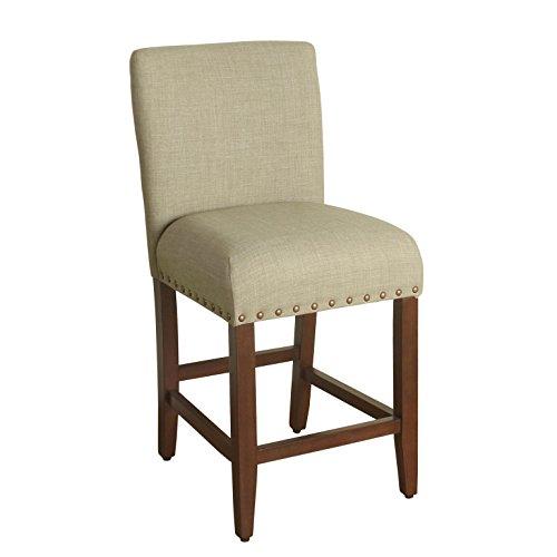 HomePop Upholstered Barstool, 24-inch, Textured -