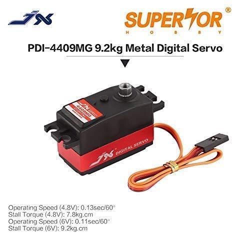 JX Servo PDI-4409MG 9KG Short Digital Standard 1/8 1/10 RC car Drift car Low Profile Metal Gear 3racing 3R Sakura D4 CS Yokomo YD2S ()