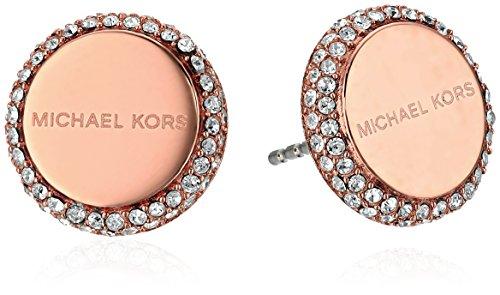 Michael Kors Rose Gold Logo Post Stud Earrings