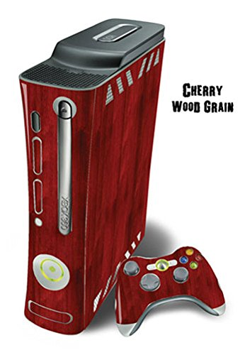 MightySkins Protective Skin Decal Wrap Cover for Xbox 360 Console + two Xbox 360 Controllers Sticker - Cherry Woodgrain