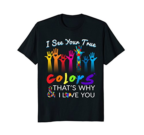 I See Your True Colors Hands Autism Awareness Tshirt ()