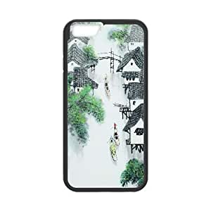 Chinese Painting iPhone 6 Plus 5.5 Inch Cell Phone Case Black Protect your phone BVS_681647