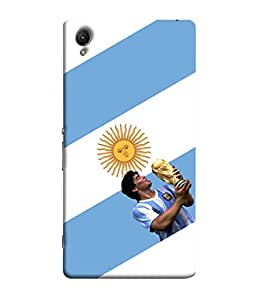 ColorKing Football Maradona Argentina 01 White shell case cover for Sony Xperia Z1