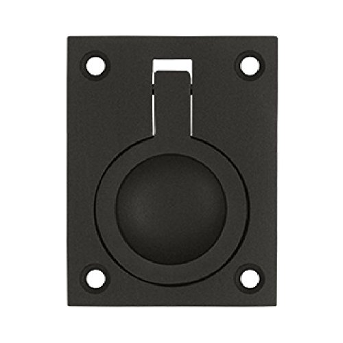Deltana FRP25U10B 2 1/2-Inch x 1 7/8-Inch Solid Brass Flush Ring Pull