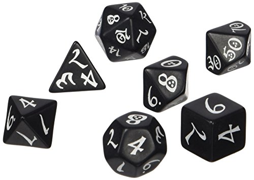 Classic RPG Black white Dice product image
