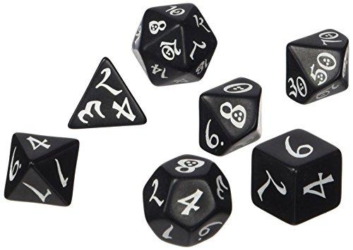 Classic RPG Black white Dice