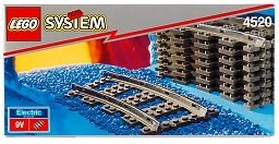 LEGO 4520 Curved Rails For 9V Trains (9V train for curve rail)