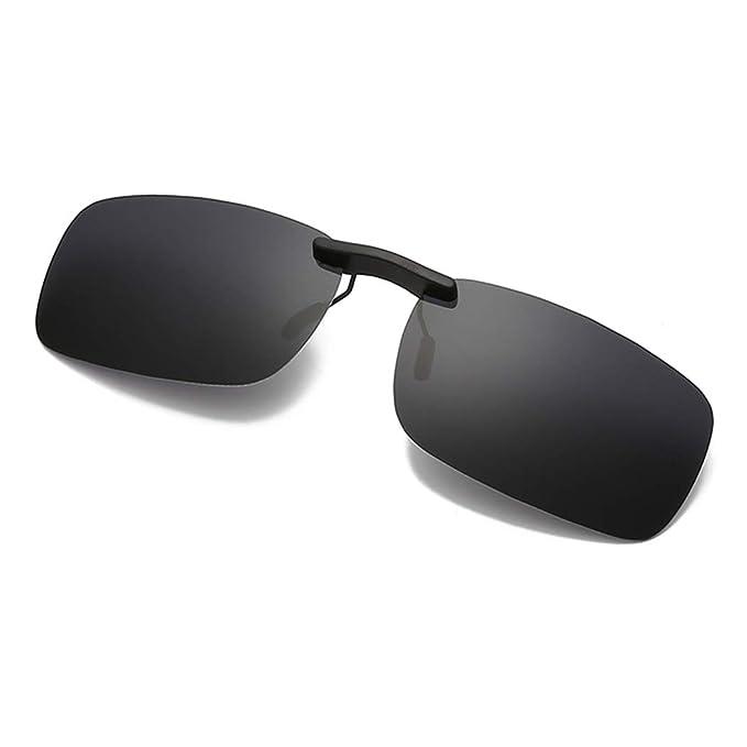 GUKOO Polarización clip en gafas de sol unisex para anteojos recetados- Buenas gafas para gafas de miopía al aire libre/conducción/pesca