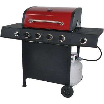 RevoAce 4-Burner LP Gas Grill with Side Burner, Red Sedona-GBC1748WRS