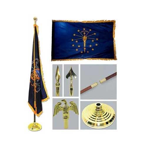 Indiana 3ft x 5ft Flag Flagpole Base and Tassel