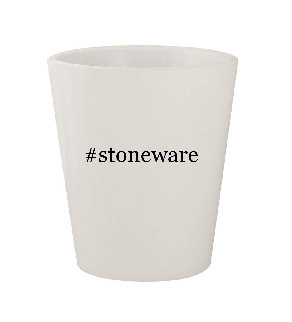 #stoneware - Ceramic White Hashtag 1.5oz Shot Glass