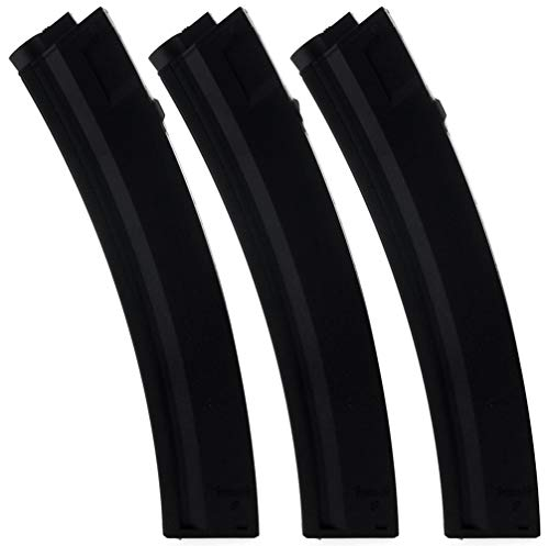 SportPro Army Force 80 Round Polymer Medium Capacity Magazine for AEG MP5 3 Pack Airsoft - Black