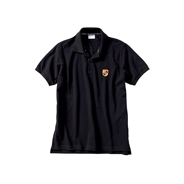 8efa500ee Porsche Mens Black Polo Shirt Crest