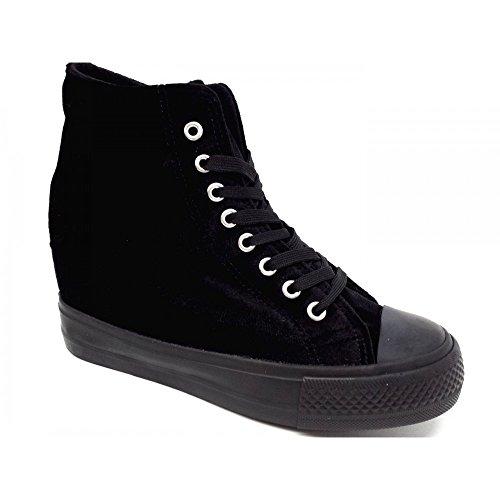 CRISTIN Nero Zeppa 5 Donna Interna Sneakers Scarpe 1 Nero Velluto 7 Elisabeth rxqarwg