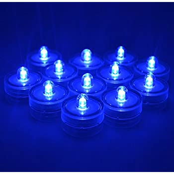 Amazoncom Submersible Battery LED 10 LightsBLUEWeddingTea