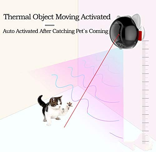 PetDroid Boltz Motion Activated Cat Laser Toy Automatic,USB Rechargeable Battery/Fast and Slow Random Pattern 3