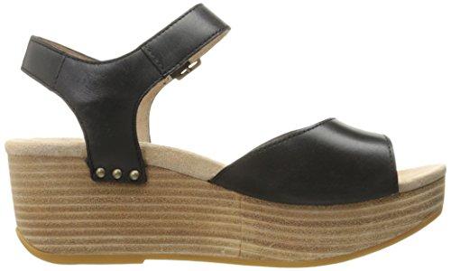 Silvie Women's Black Burnished Platform Dansko Sandal Z8dwRq