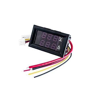 aubreey 5pcs DC 0 – 100 V 10 A digital Voltímetro Amperímetro pantalla Dual detector de