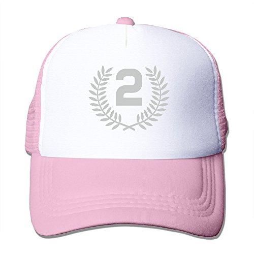 (Mens Second Place Mesh Back Baseball Cap Trucker Caps Pink)