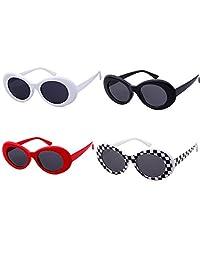 SORVINO Sunglasses Unisex Kurt Cobain Glasses Bold Retro Oval Mod Clout Goggles
