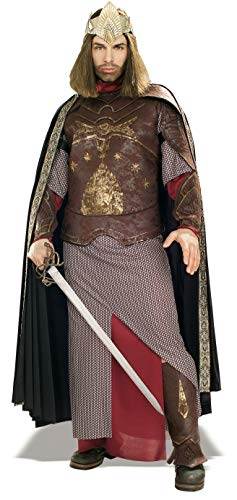 Rubie's Men's The Lord Of The Rings Deluxe Aragorn King Gondor Costume, As Shown, Standard]()