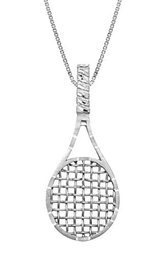 Sterling Silver Tennis Necklace Pendant