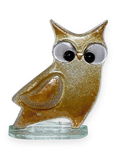 Qualität Fused Glas Figur – Wise Old Owl Briefbeschwerer Ornament – Handarbeit Glas braun Eule Ornament. B07C24QWC9 | Verrückter Preis, Birmingham