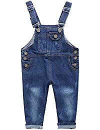 Boys Unisex Clothes Adorable Solid Denim Overall