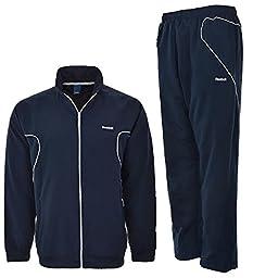 Reebok Mens Tracksuit Woven Jog Suit Classic Athletic Tracksuit Navy M L XL K27208 (M)