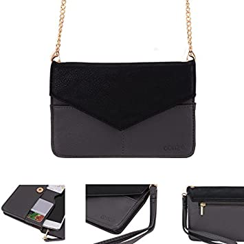 Conze Mujer embrague cartera todo bolsa con correas de hombro para teléfono inteligente para Samsung Galaxy A3/Duos gris gris: Amazon.es: Informática