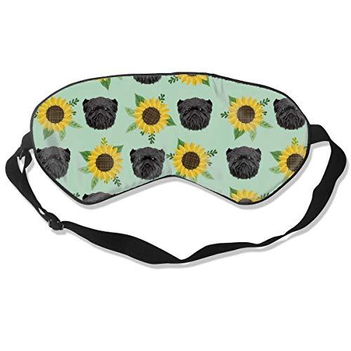 (Affenpinscher Floral Dog Pattern Dog HEA Sleep Mask Pack Men and Women Or Children Eye Mask No Pressure Eye Masks for Sleep & Travel)