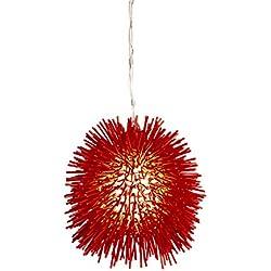 Varaluz 169M01RE Urchin 1-Light Mini Pendant - Super Red Finish